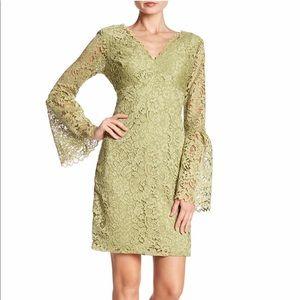 Betsey Johnson Lace V-Neck Bell Sleeve Dress